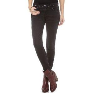Current/Elliott Studded Crop Night Skinny Jeans